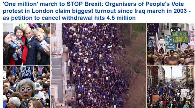 protest londra antibrexit dailymail