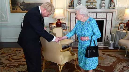 Boris johnson la Regina