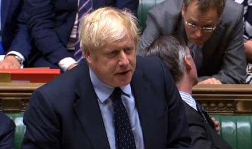 Boris Johnson in parlament